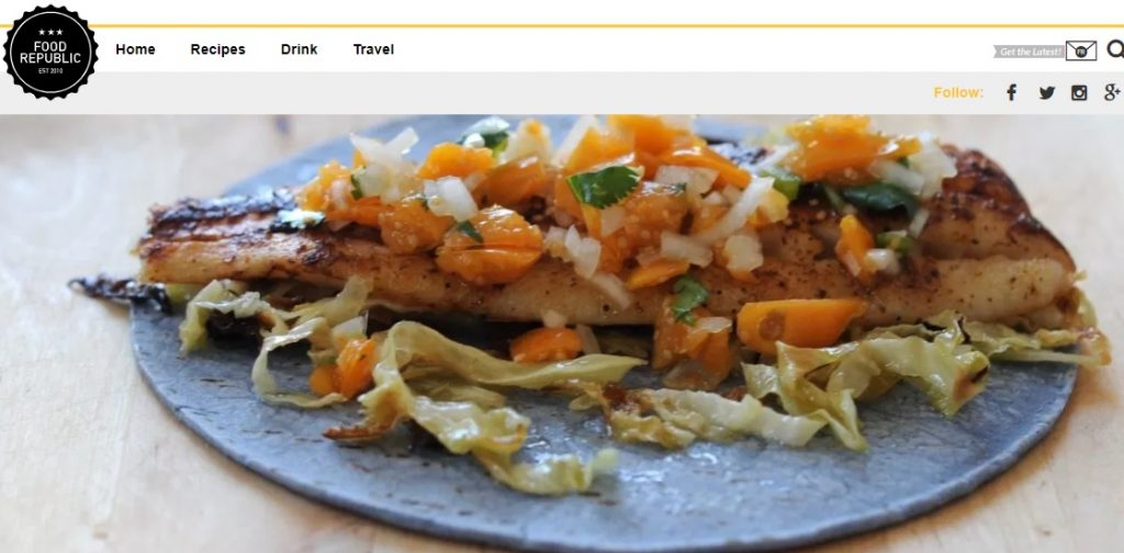 Fish Tacos with Gooseberry Salsa