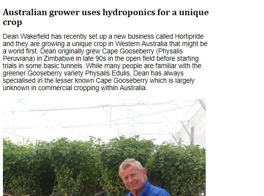 'HortiDaily' Features the Horti-Pride Story – PRESS